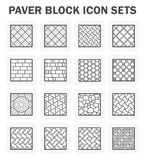 Paver block sets. Paver block and stone icon sets Stock Image