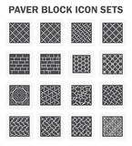 Paver block sets. Paver block and stone icon sets Stock Images