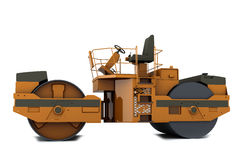 Paver machine. Orange paver machine isolated on white background Stock Photos
