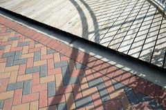 Paver and Wood Royalty Free Stock Photography