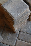 Pavers. Photo of pavers stacked in a pile Royalty Free Stock Images