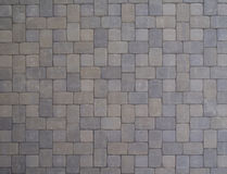 Pavers. Concrete Pavers in a square pattern for a driveway Royalty Free Stock Photo