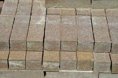 Pavers. Image of a stack of paving bricks Stock Photos