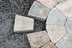 Pavers In A Circular Pattern Stock Images
