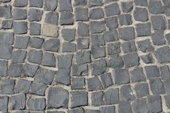 Pavers in the park close-up royalty free stock photography