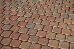 Pavers for the patio. A picture of old town pavers on the patio showing a neat pattern royalty free stock photos