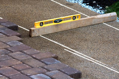 Pavers Ruler Royalty Free Stock Photography