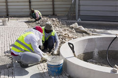 Pavers at Work Stock Photography