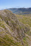 Pavey Ark. View of walkers on top of Pavey Ark, Langdale Valley, Lake District Royalty Free Stock Photography