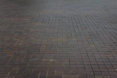 Pavez les dalles rectifiées, trottoir carrelé photos libres de droits