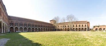 pavia Замок Visconti стоковая фотография rf
