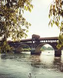 Pavia Borgo Ticino river. Pavia city in Milan Stock Photography