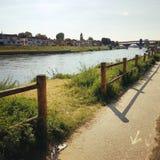 Pavia Borgo Ticino rzeka Zdjęcia Stock