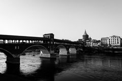 Pavia river Ticino Stock Photos