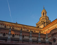 Pavia Carthusian monastery renaissance architecture. The Pavia Carthusian monastery is an important example of renaissance religious architecture,Italy at Stock Photography