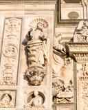 Pavia Carthusian monastery statues from the renaissance close up Stock Photography