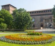 Pavia, castello fotografia stock libera da diritti
