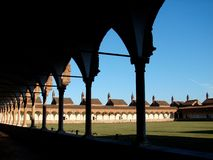 Pavia chartreuse, Grand cloister Stock Photos