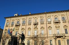 Pavia city hall Stock Photo