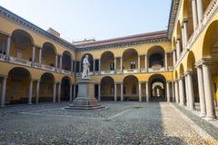 Pavia, court of the University Stock Photo