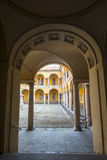 Pavia, court of the University Stock Image