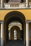 Pavia, court of the University Stock Images
