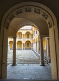 Pavia, court of the University Royalty Free Stock Images