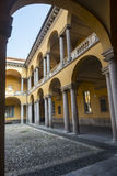 Pavia, court of the University Stock Photo