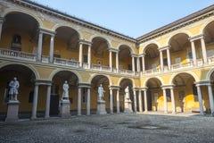 Pavia, court of the University Stock Photos