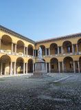 Pavia, court of the University Stock Photography