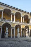 Pavia, court of the University Stock Photos