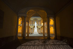 Pavia, court of the University Royalty Free Stock Image