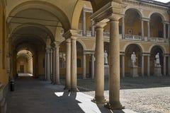 Pavia - de oude universiteit Stock Fotografie