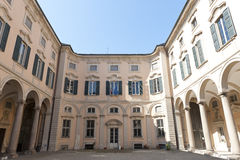 Pavia, historic palace. Pavia (Lombardy, Italy) the historic Palazzo Olevano royalty free stock images