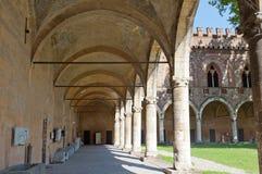 Pavia, il castello fotografia stock