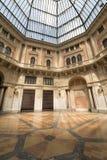 Pavia (Italië): behandeld vierkant Royalty-vrije Stock Fotografie