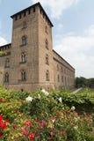 Pavia (Italië): kasteel Stock Afbeeldingen