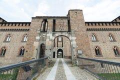 Pavia (Italien): slott royaltyfria foton