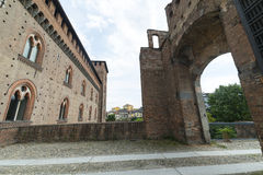 Pavia (Italy): castle Royalty Free Stock Photos