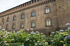 Pavia (Italy): castle Stock Photo