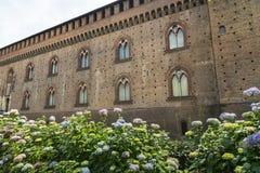 Pavia (Italy): castle Stock Photo