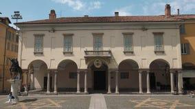 Pavia, Italy - circa May 2016: Piazza Duomo.  stock video footage