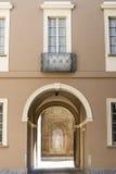 Pavia (Italy): historic court Royalty Free Stock Photos