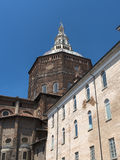 Pavia (Italy): palace and cathedral Royalty Free Stock Photo