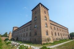 Pavia, kasteel stock foto's