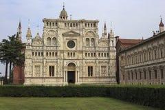 Pavia La Certosa Arkivbild