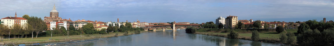 Pavia large panorama Royalty Free Stock Images