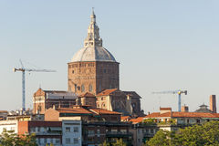 Pavia (Lombardy, Italy). With the dome of ancient church Stock Image