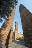 Pavia, medieval towers Stock Images
