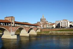 Pavia postcard Royalty Free Stock Images